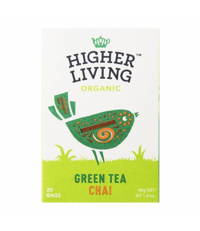 Higher Living Organic Green Tea Chai 20 Bags