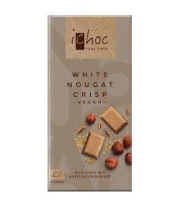 iChoc iChoc White Nougat Crisp Rice Choc 80g