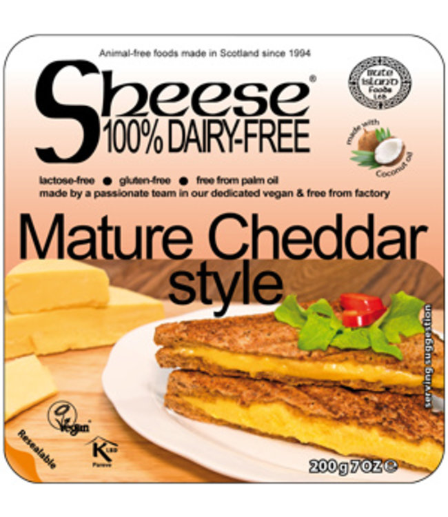 Bute Island Sheese (Melty) -  Mature Cheddar Style COCONUT 200g