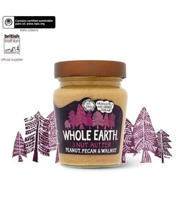 Whole Earth Peanut Pecan And Walnut Butter 227g