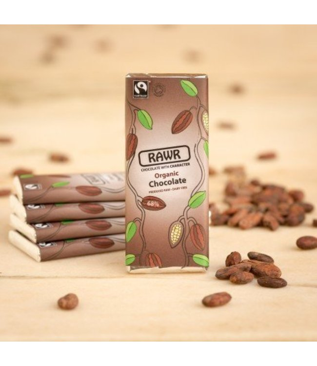 Organic Fairtrade 68% Raw Chocolate Bar 60g