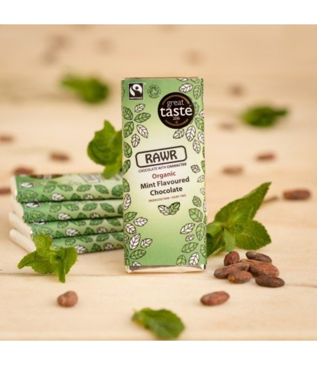 Rawr Organic Mint Flavoured Chocolate Bar 60g