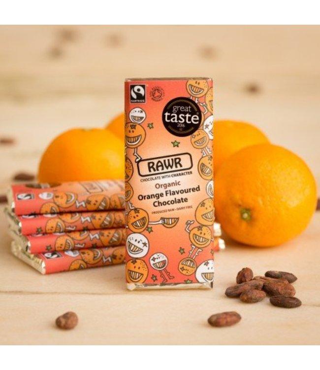 Organic Fairtrade Orange Raw Chocolate Bar 60g