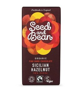 Seed & Bean Dark Chocolate 58% Cocoa With Hazelnut 85g