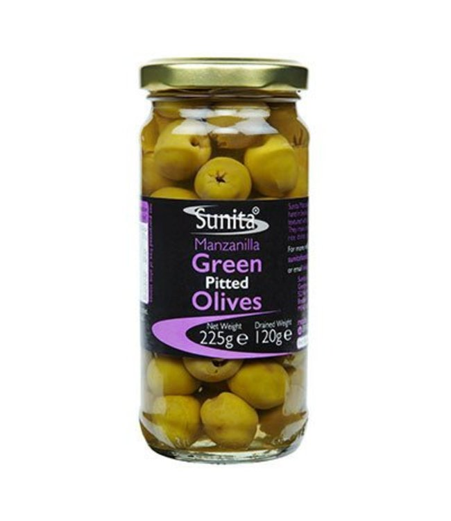Sunita Sunita Green Pitted Olives 225g