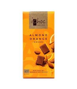 iChoc iChoc ORG Almond Orange Rice Choc 80g