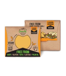 GreenVie Greenvie Cheddar Slices 180g