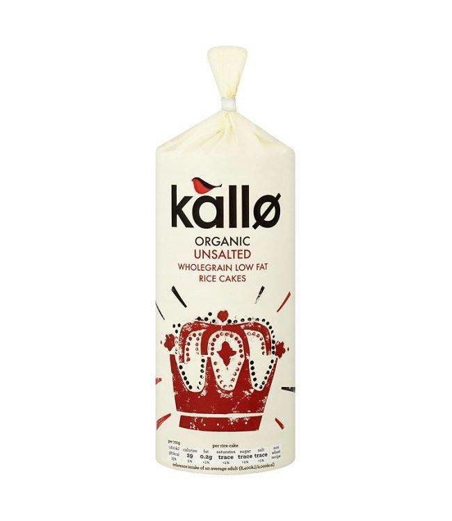 Kallo Kallo Organic Unsalted Rice Cakes 130g