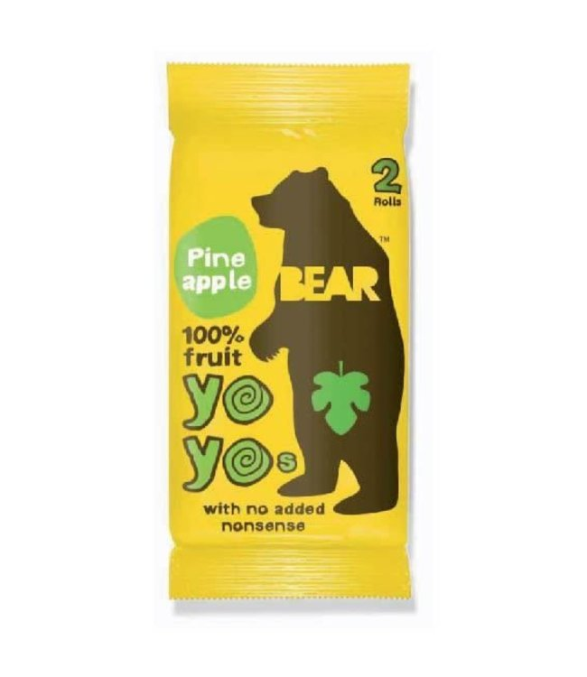 Bear Yo Yos Pineapple 100% Fruit Rolls 20g