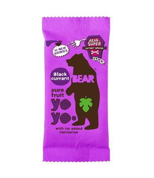 Bear Yo Yos Blackcurrant100%Fruit Rolls 20g