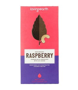 Loving Earth Loving Earth Raspberry Cashew Mylk Chocolate 80g
