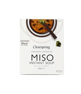 Clearspring C/Spring ORG Instant Miso Soup Sea Veg 4x10g