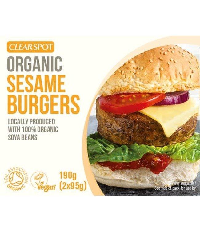 Clear Spot Clear Spot Tofu Sesame Burgers 190g