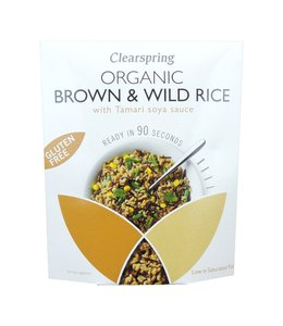 Clearspring ClearSpring  Organic Gluten Free 90sec Brown & Wild Rice