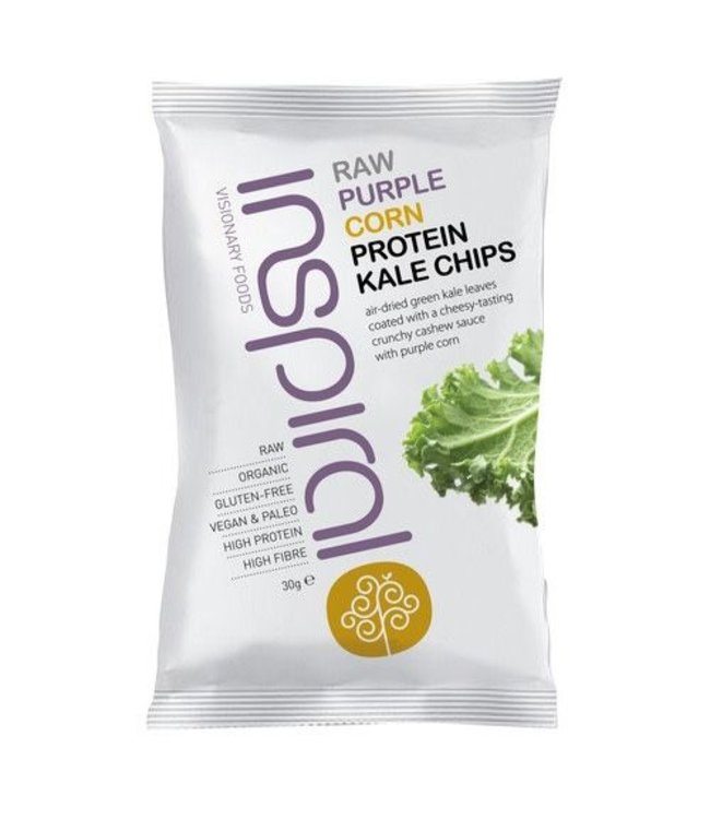 Inspiral Visionary Products Inspiral Purple Corn Kale Chips 30g