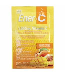 Pauling Labs Inc. Ener-C, Vitamin C, Effervescent Powdered Drink Mix, Peach Mango