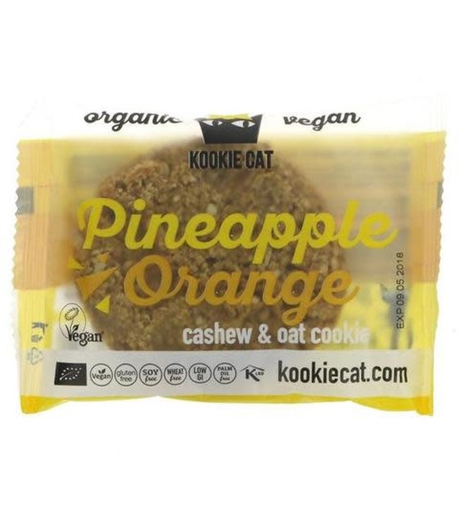 Kookie Cat Organic Raw Vegan Kookie Cat ORG GF Pineapple & Orange Cookies 50g