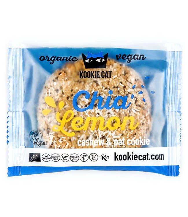 Kookie Cat Organic Raw Vegan Kookie Cat ORG GF Chia & Lemon Cookies 50g