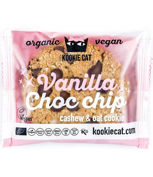Kookie Cat Organic Raw Vegan Kookie Cat ORG GF Vanilla & Choco Drops Cookies 50g