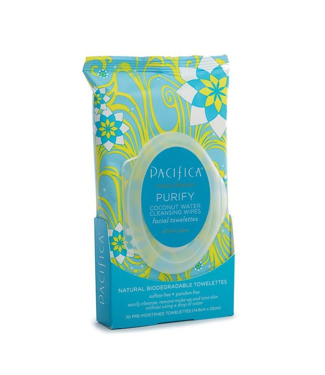 Pacifica Pacifica Purify Coconut Water Cleansing Wipes 30p