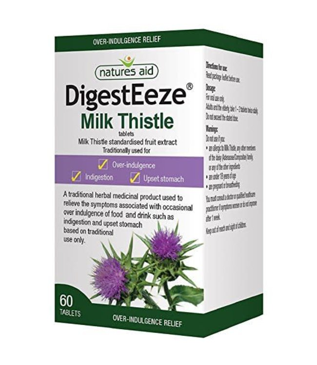 Natures Aid Natures Aid Digesteeze Milk Thistle 150mg - 60 Tablets