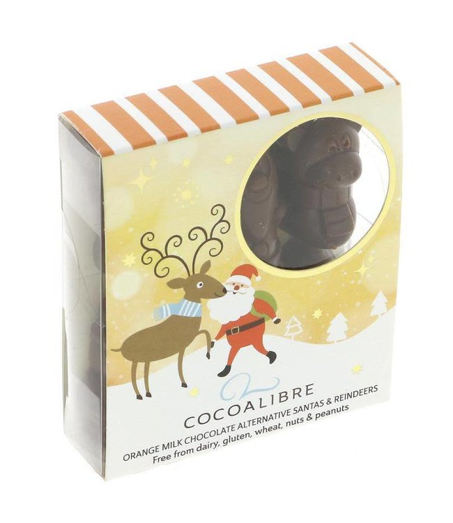 Cocoa Libre Orange Santa and Reindeers 60g