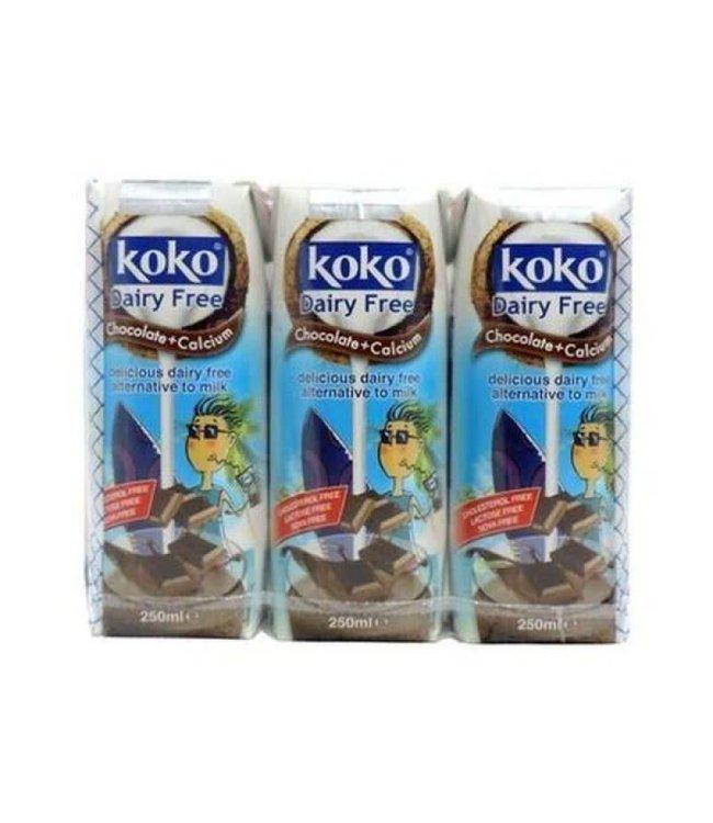 Koko Dairy Free Chocolate Plus Calcium 3x250ml