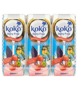 Koko Dairy Free Strawberry Plus Calcium 3x250ml