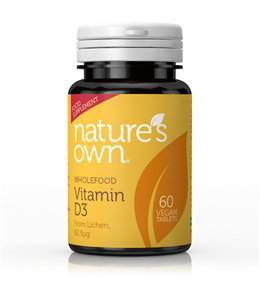 Natures Own Nature's Own Vegan D3 2500iu 60 Tablets