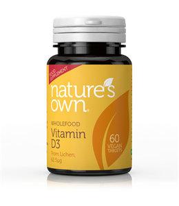 Natures Own Vegan D3 2500iu 60 Tablets