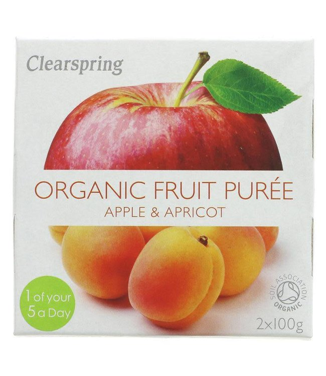 Clearspring Clearspring Apple & Apricot Puree - organic - 2x100g