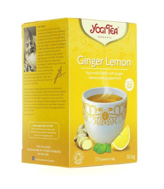 Yogi Teas Yogi Tea Ginger Lemon - organic - 17 bags