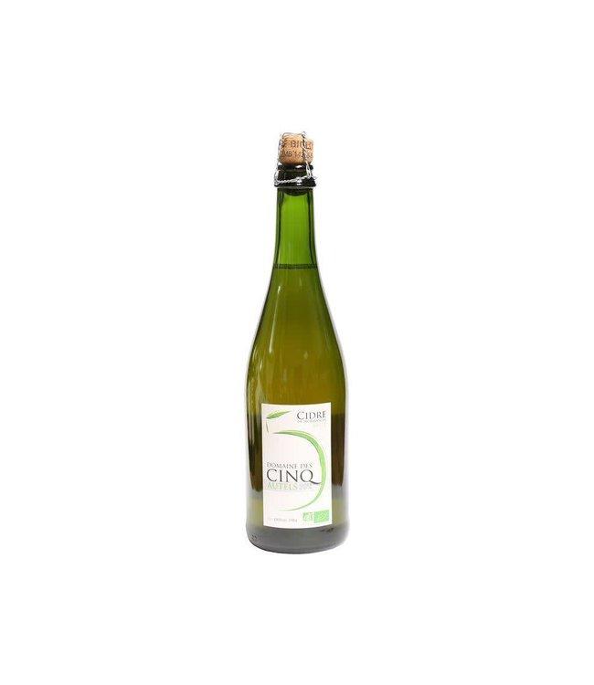 French Cider Domaine des Cinq Autels, Normandy Sparkling Cider, Organic 750ml