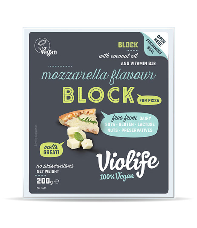 "Violife Violife Coconut Cheese Mozza Block ""For Pizza"" 200g"