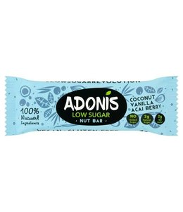 Adonis Adonis Natural Low Sugar Vanilla Nut Bar 35g