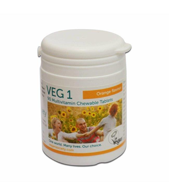 VEG1 Vegan Society VEG1 Multivitamin Orange 90 tablets
