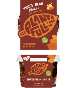 Plantifull Food Co - Vegan Ready Meals Plantifull Three-Bean Smoky Chilli 330g