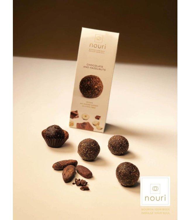 Nouri Nouri Chocolate & Hazelnuts Vegan Truffles 30g