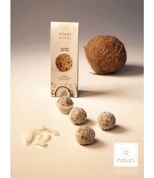 Nouri Nouri Coconut & Chia Vegan Truffles 30g