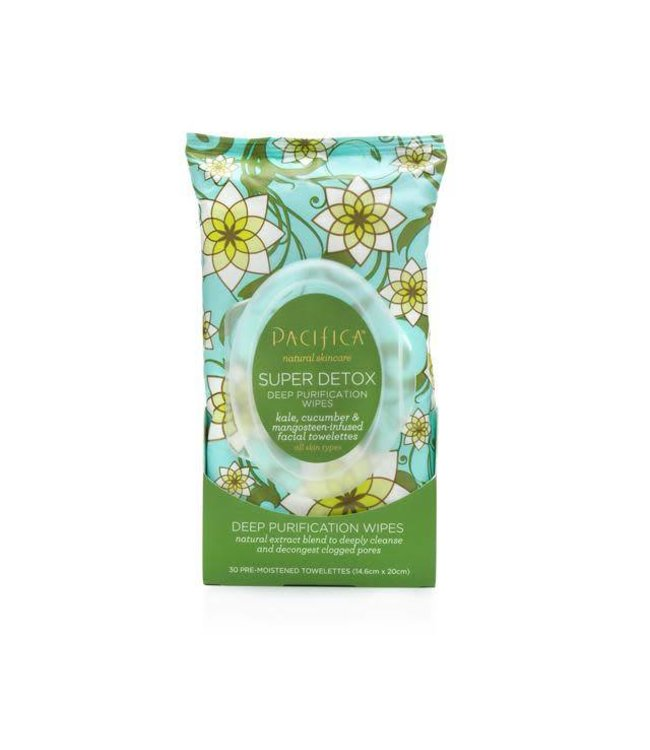 Pacifica Pacifica Kale Super Detox Wipes 30 towelettes