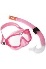 Aqua Lung Reef DX 2 Clear Lens + Snorkel Pink