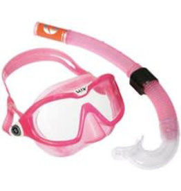Aqua Lung Reef DX 2 Clear Lens + Snorkel Pink