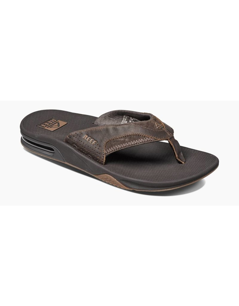 Reef Leather Fanning Brown