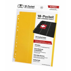 Ultimate Guard 18-Pocket Pages Side-Loading Yellow (10)