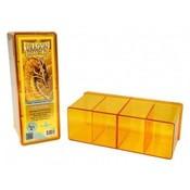 Dragon Shield 4 Compartment Storage Box Yellow