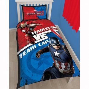 Marvel Comics Captain America Duvet 140x200/50x75 cm