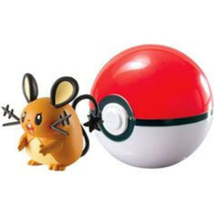 Tomy Pokémon Dedenne + Poke Ball Clip'n'Carry Wave D7