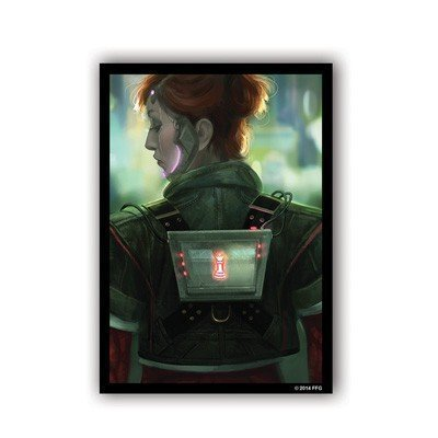 Android Netrunner Deep Red'' Artwork Sleeves
