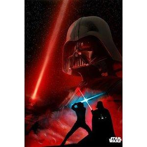 Star Wars Metalen Poster Darth Vader Duel Of Fates 32 x 45 cm