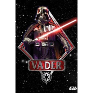 Star Wars Metalen Poster Darth Vader Emblem 32 x 45 cm